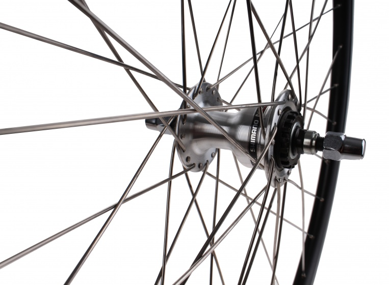 Ryde Stratos voorwiel 28 inch rollerbrake 36G alu zwart