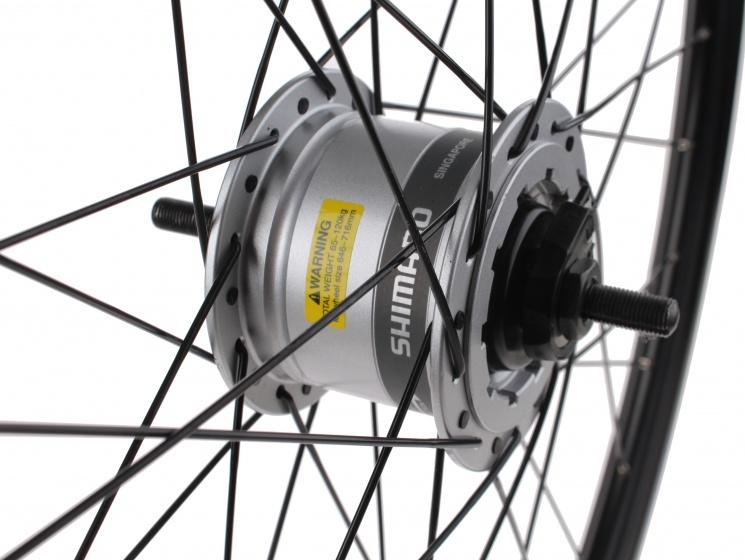 Ryde voorwiel Stratos 28 inch rollerbrake 36G alu zw/zi