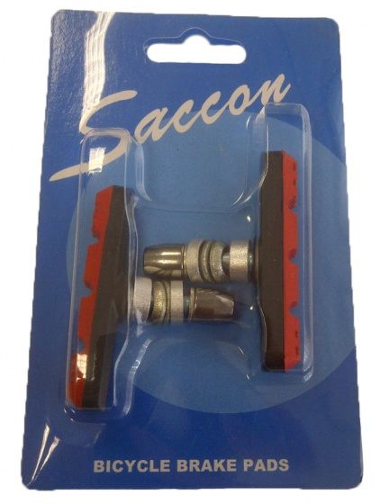 Saccon remblokkenset PM22R V brake 60 mm zwart/rood