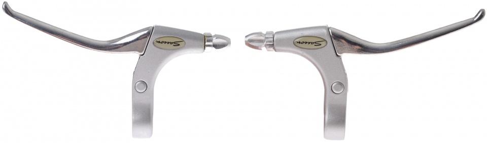Saccon remgrepen set cantilever/V brake 4 vinger zilver