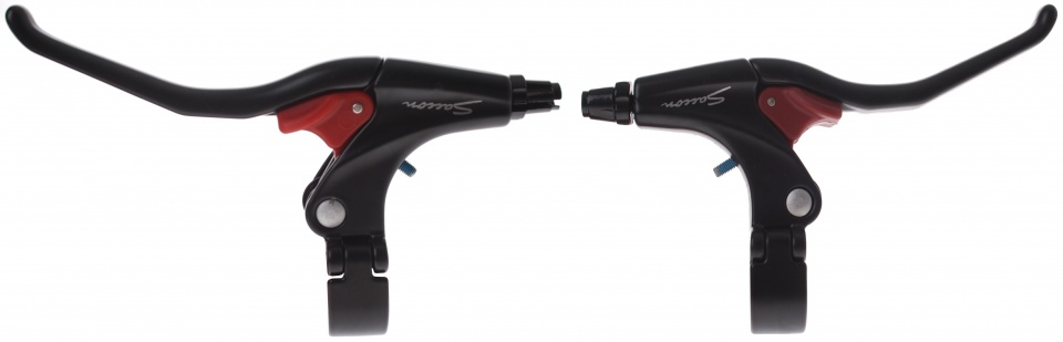 Saccon remgrepen set met parkeerstand V brake 3 vinger zwart
