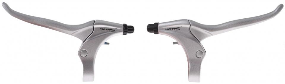 Saccon remgrepen set rollerbrake/V brake 4 vinger zilver