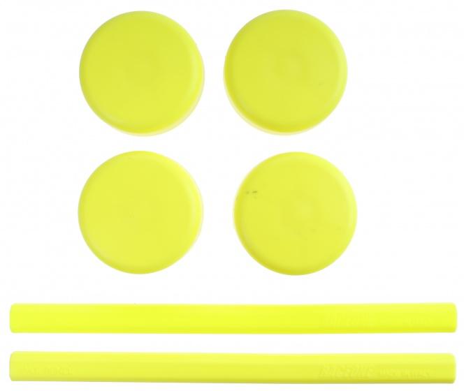 Saccon vervangingsset voor etalage standaard geel 6 delig