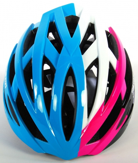Salutoni fietshelm unisex 54 58 cm blauw/roze/wit