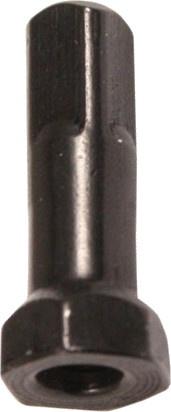 Sapim spaaknippels 14G Hexa 14 mm aluminium zwart 100 stuks