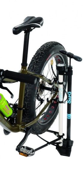 Sapo vloerpomp en fietsstandaard Hybrid met manometer