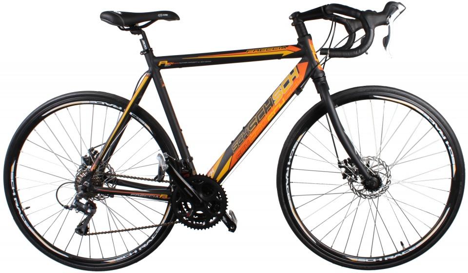 Schiano Freccia 28 Inch 51 cm Heren 24V Schijfrem Zwart/Oranje