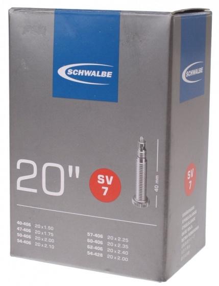 Schwalbe binnenband 20 x 1.5/2 inch (40/62 406/428) SV7 FV 40 mm