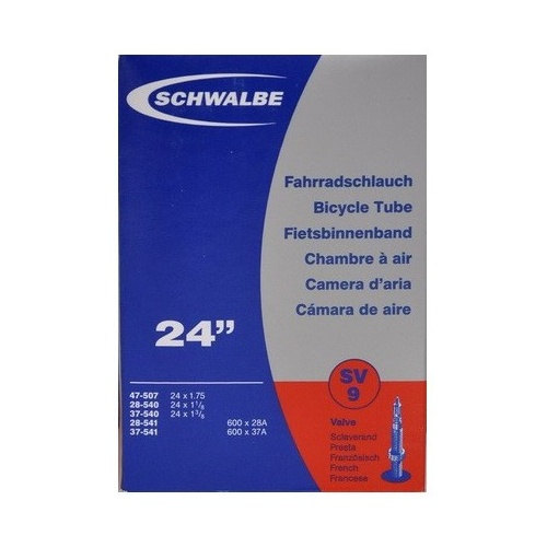 Schwalbe binnenband 24 x 1.75/1 3/8*(28/47 507/541) FV 40 mm Onderdelen & Accessoires Zwart Binnenbanden 24 Inch Voor 16:00 uur besteld, dezelfde dag verzonden