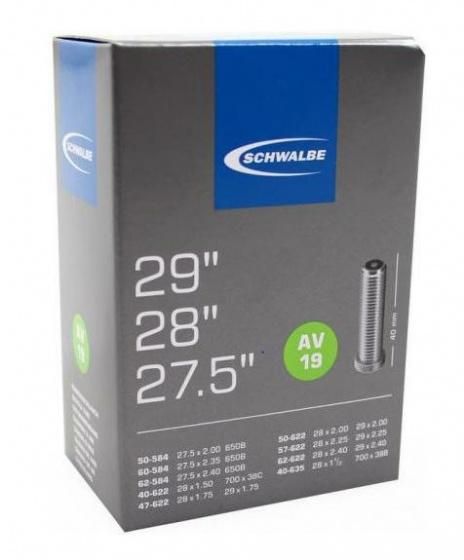 Schwalbe binnenband 27.5/29 x 1.5/2.4 (40/62 584/635) AV 40 mm