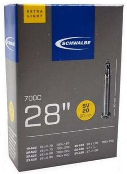 Schwalbe binnenband 27/28 x 0.75/1.00(18/25 622/630) FV 60 mm