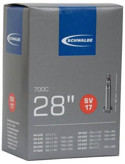 Schwalbe binnenband 27/28 x 1.10/1.75(28/47 609/635) FV 60 mm
