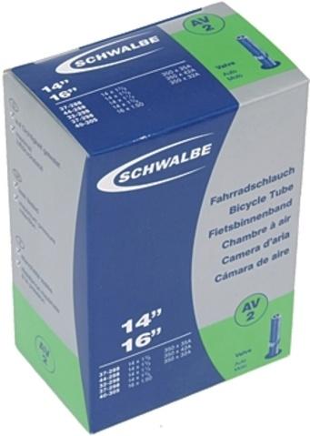 Schwalbe Binnenband DV2 14 x 1 1/4 / 16 x 1.50 (37 288/40 305) DV 38 mm