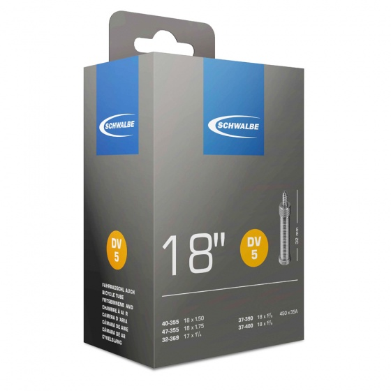 Schwalbe Binnenband DV5 18 x 1.50/1 3/8 (32/47 355/400) 35 mm