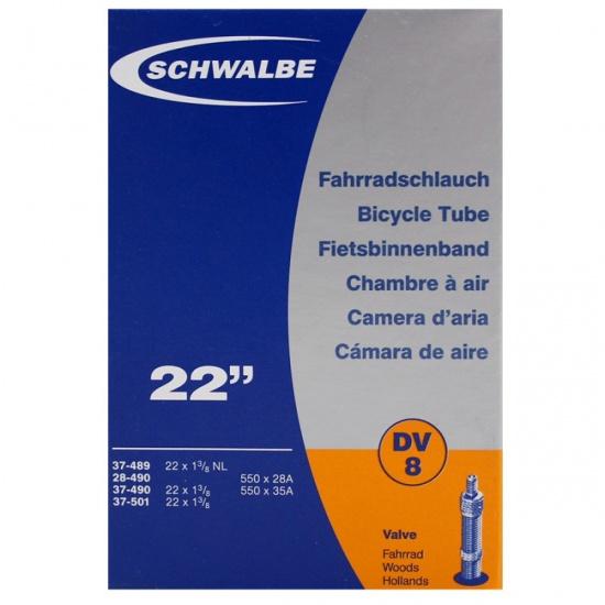 Schwalbe Binnenband DV8 22 x 1 3/8 (28/37 489/501) DV 30 mm