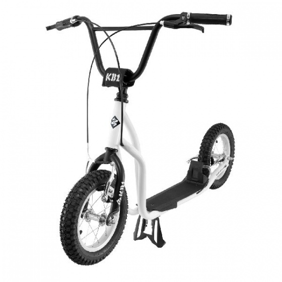 Streetsurfing - K-bike Autoped Step Junior Wit/zwart