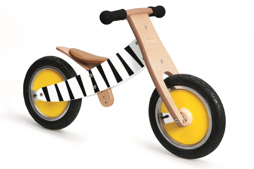 Scratch Move It loopfiets Junior Blank/Zwart