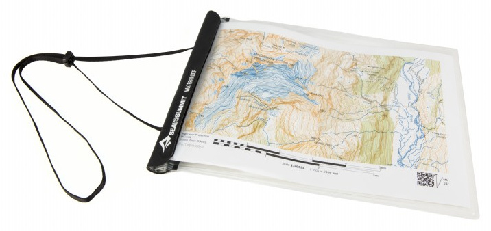 Sea to Summit kaarthouder waterdicht 30 x 21 cm PVC transparant