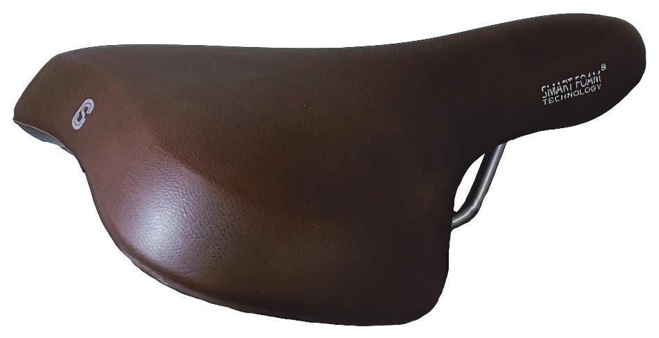 Selle Comfort zadel Pure 25 x 22 cm unisex gel/staal bruin