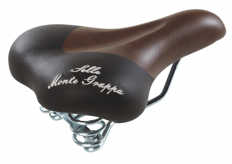 Selle Monte Grappa zadel Fashion 250 x 190 mm donkerbruin