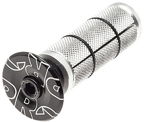 Pro balhoofdplug 1 1/8 inch 50 mm zwart/zilver