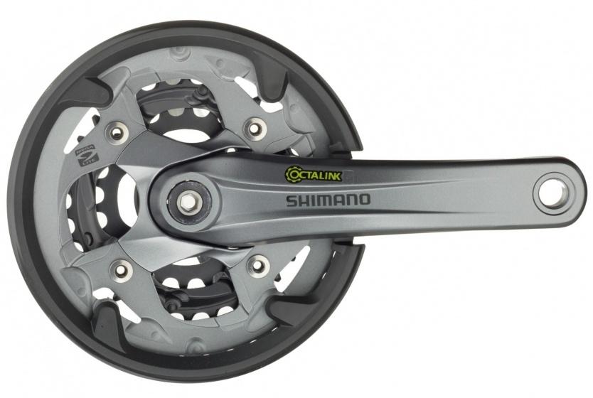 Shimano crankstel Alivio 9 speed 22 30 40T 175 mm grijs
