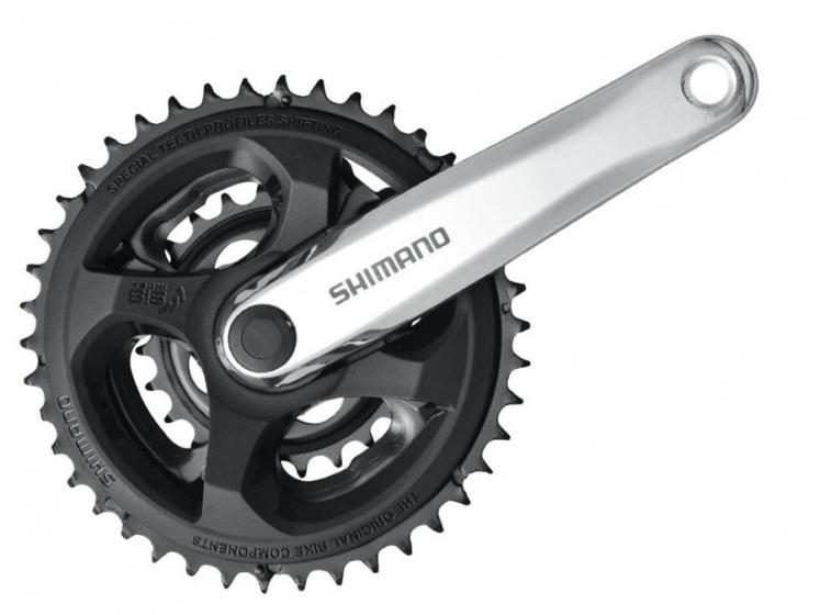 Shimano crankstel Altus 28 38 48T 170 mm zwart/zilver