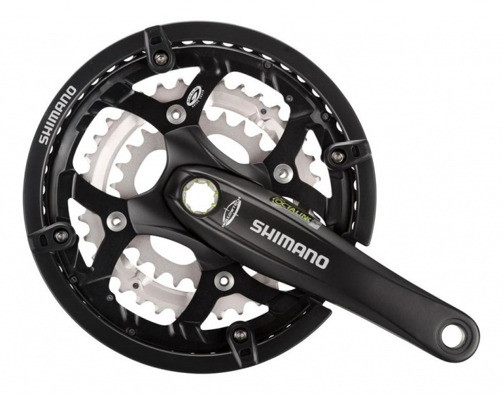 Shimano crankstel FC M521 48 36 26T 170 mm zwart