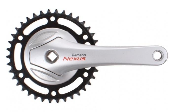 Shimano crankstel Nexus 33T 170 mm zilver
