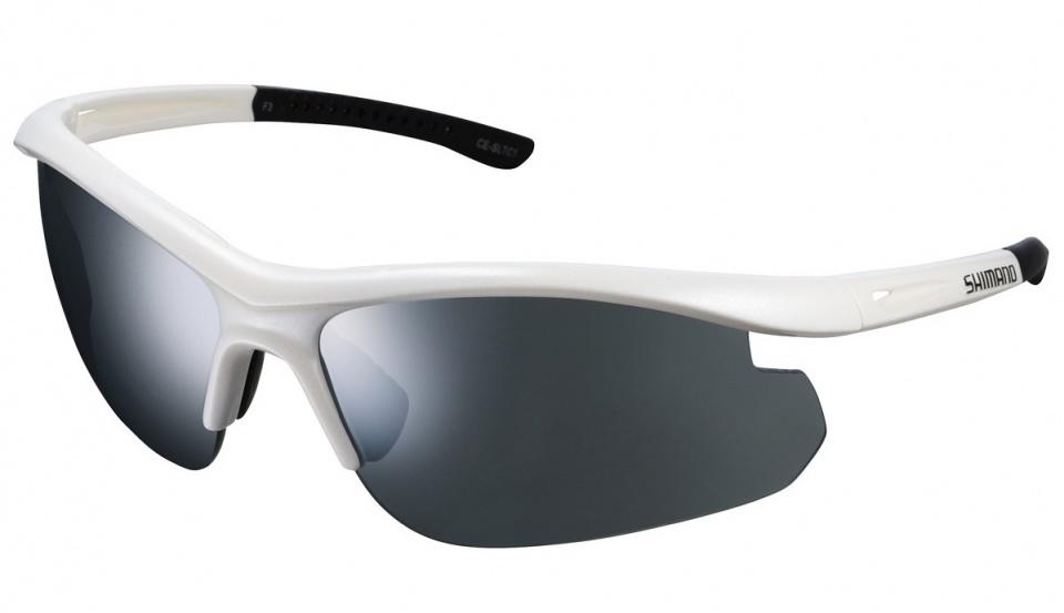 Shimano fietsbril Solstice unisex zilver spiegelend wit