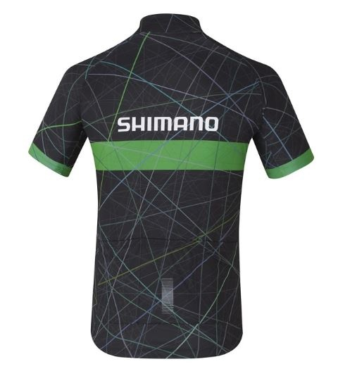 Shimano fietsshirt Team Performance heren zwart/groen Maat L