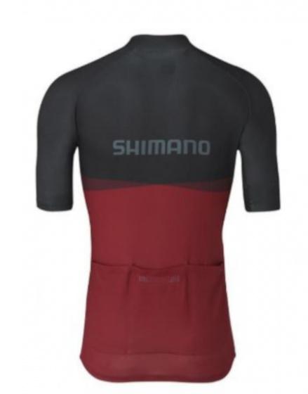Shimano fietssshirt Team heren polyester zwart/rood maat XS