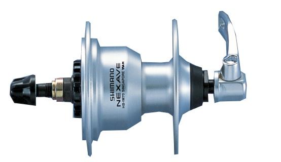 Shimano Naaf Nexave HB IM70 Voor 36 Gaats Aluminium Zilver