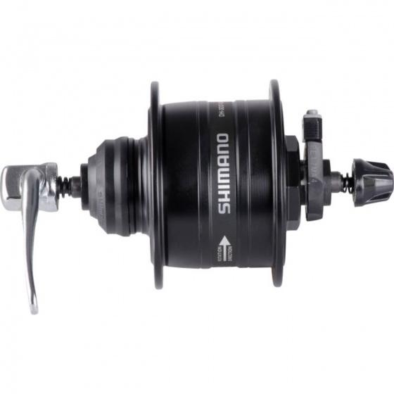 Shimano naafdynamo DH 3D37 centerlock 133 mm 36G zwart