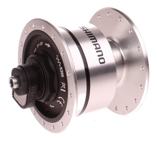 Shimano naafdynamo DH 3N72 6V 3W 32G zilver