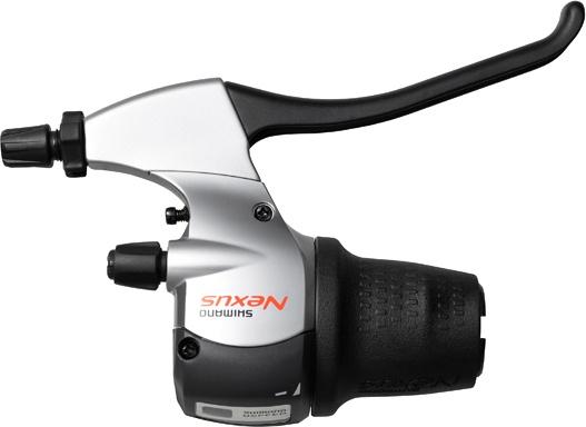 Shimano remgreepversteller Nexus rechts 8S zwart/zilver