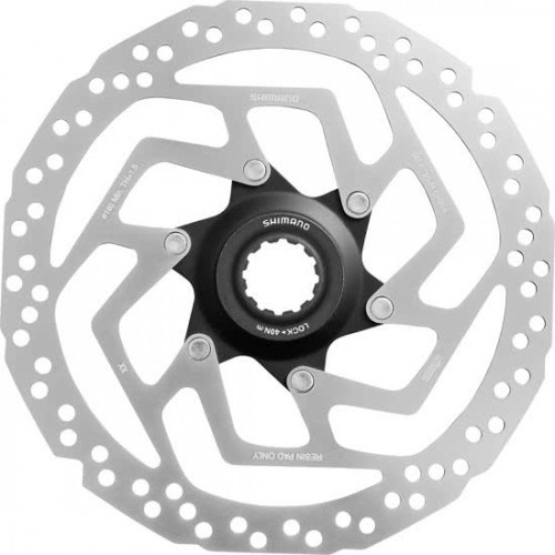 Shimano remschijf Asmrt20s 160 mm 6 gaats zilver staal