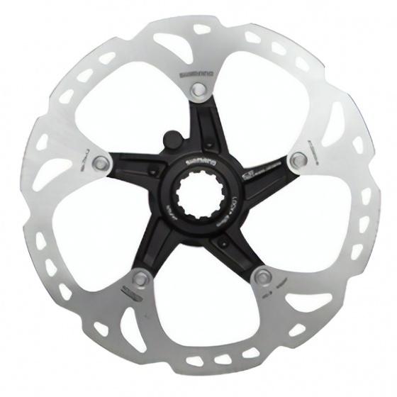Shimano remschijf RT Em810 203 mm RVS center lock zilver/zwart
