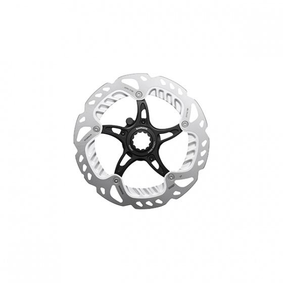 Shimano remschijf RT Em910 RVS 180 mm center lock zwart/zilver