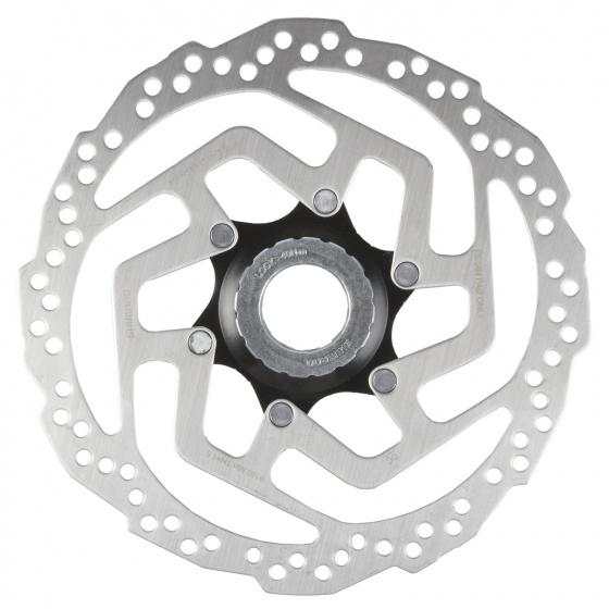 Shimano remschijf SM RT10 180 mm 6 gaats staal zilver