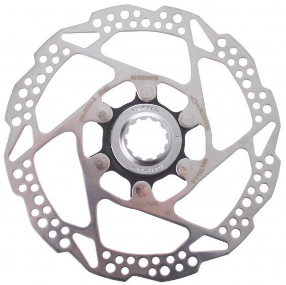 Shimano remschijf SM RT54 160 mm 6 gaats staal zilver