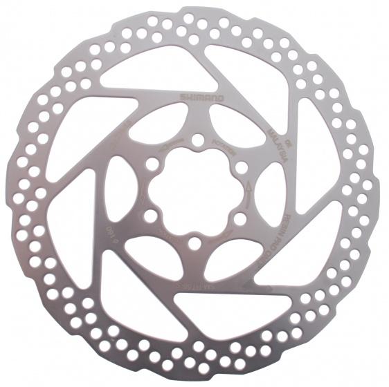 Shimano remschijf SM RT56 160 mm 6 gaats staal zilver