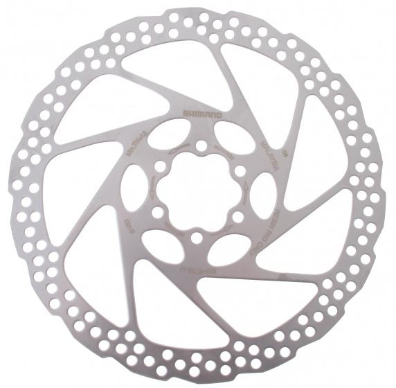 Shimano remschijf SM RT56 180 mm 6 gaats staal zilver