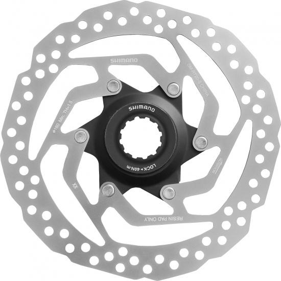 Shimano remschijf SM RT20 160 mm 6 gaats staal zilver