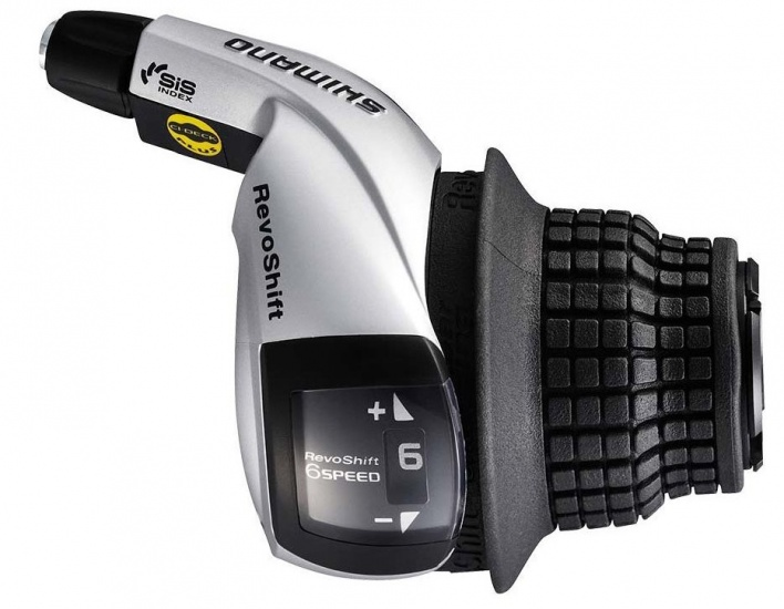 Shimano Shifter Revo SL RS45 6SP Rechts Zwart / Zilver
