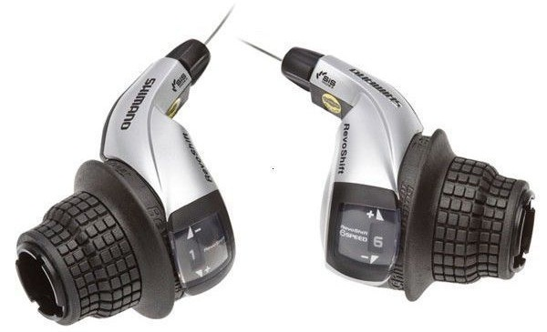 Shimano shifter set Tourney 3/7S 1700 mm zwart/zilver