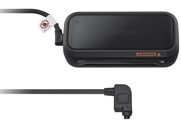 Shimano Steps acculader EC E6002 Di2 15 cm zwart