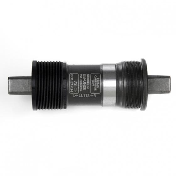 Shimano trapas Alivio BB UN26 staal 73/113 mm zwart