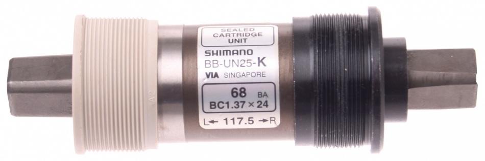 Shimano Trapas BB UN25 K Zonder Crankdop JIS 117,5 / 35 mm