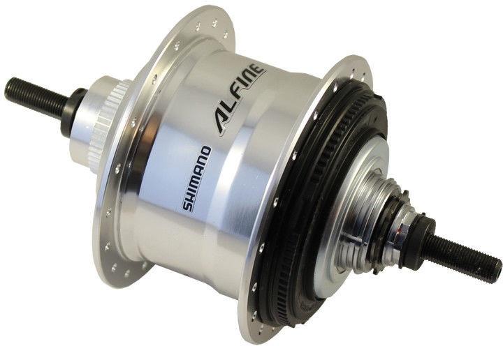 Shimano versnellingsnaaf Alfine 11S aluminium zilver